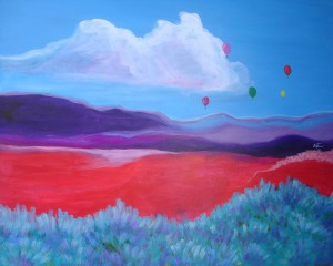 Neon Hills #3 with Balloons